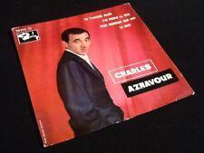 Vinyle 45 tours  Charles Aznavour  Tu t'  laisses aller  (1960)