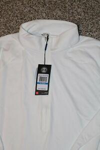 Women's  NWT Under Armour UA Golf Half Zip Sz. XL White