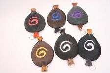 Genuine Leather Handmade Spiral Coin Wallet - Jewellery purse - Tobacco pouch