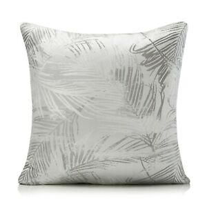 Fiji Silver And Grey Palm Leaf Woven Cushion Covers, 2 Sizes, Free P&P