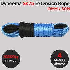10MM X 50M Dyneema SK75 Extension Winch Rope Synthetic Cable 4X4 Offroad Car Tow