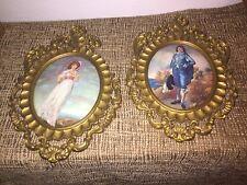 Vintage Gold Framed Pinkie & Blue Boy-Convex Sp Mod DePose Italy