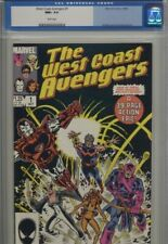 West Coast Avengers #1 CGC NM+ 9.6 White Pages Old label Iron Man Sharp Book!