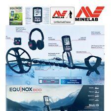 "Minelab Equinox 800 WATERPROOF Metal Detector With 11"" DD Smart Coil, Multi Freq"