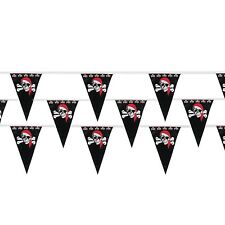 PIRATE PARTY SUPPLIES 1 LARGE 30M FLAG BANNER PLASTIC PENNANT DECORATION