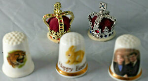 Thimble Lot Crown Thimbles Finsbury Royal Wedding Easter Thimble Made In England