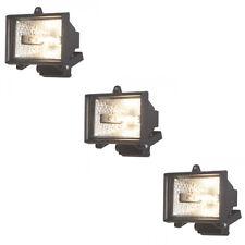 3 Pk 120 Watt 1 Light Security Floodlight Modern Garden Lighting IP44 Litecraft