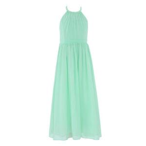 Girls Chiffon Long Dress Bridesmaid Wedding Party Dress Princess Prom Ball Maxi