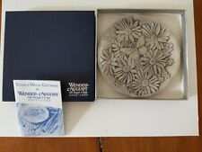 """Wendell August Forge Daisies & Butterfly 4 3/8"""" Plate Orignal Box & Paperwork"""