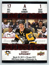 2017-18 TIM HORTONS UPPER DECK GAME DAY ACTION SIDNEY CROSBY INSERT CARD GDA-1