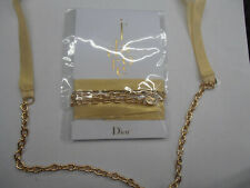 Dior J'adore Gold Ribbon Bracelet Necklace Belt Chain Brand New Rare Collectible