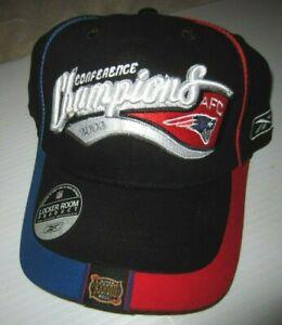 NFL Patriots 2003 AFC Conference Champions Super Bowl Reebok Hat (NEW)