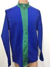 Pearl Izumi Mens Xl Blue Green Warm-Up Cycling Pullover Jacket Back Zip Pocket