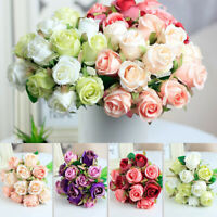 Home Decor Bridal Bouquet Wedding Decoration Fake Roses Artificial Flowers