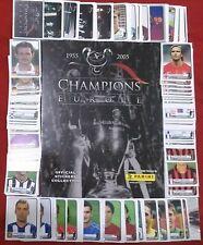 ORIGINAL PANINI Champions of Europe 1955 to 2005 Album Complete Set Stickers