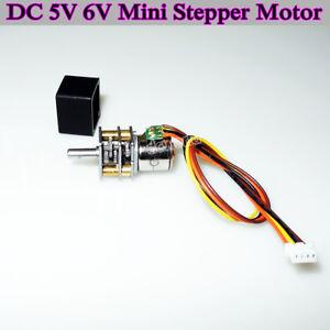 DC5V 6V 10mm 2-phase 4-wire Mini Full Metal Gearbox Gear Stepper Motor DIY Robot