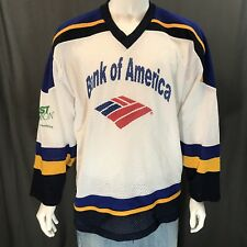 Bank Of America St. Louis Blues Colors Haffner #1 Hockey Jersey Size Men's Large
