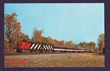 LMH Postcard 1972 CANADIAN NATIONAL Rapido Passenger MLW FPA-4 CN 6791 Dorion PQ