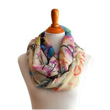 Soft LOVE Light Weight X-large Infinity Scarf Loop Cowl-Purple