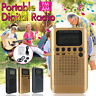 New Portable Mini Digital LCD FM/AM 2 Band Stereo Pocket Radio Receiver Earphone