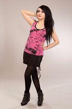 POIZEN Industries Haven Top Ladies Räumungsverkauf Goth Punk Emo pink grau rosa