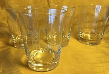 Set of 4 Highball / Tumblers Glasses w Etched RJE Monogram Initials