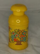 Vintage Avon Hand & Body Cream Lotion Yellow Glass as Dairy Can-Cute Decor!