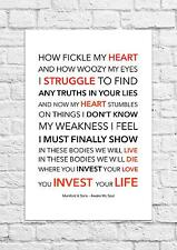 Mumford & Sons - Awake My Soul - Song Lyric Art Poster - A4 Size