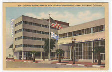 CBS Columbia Square Radio Hollywood California postcard
