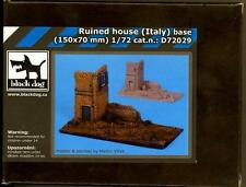 Blackdog Models 1/72 RUINED HOUSE IN ITALY Resin Diorama Base