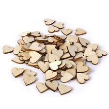 50pcs 40mm Wooden Love Heart Wood Log Slices Discs DIY Craft Wedding Hobbies