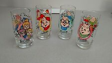 COMPLETE SET OF 4-1985 ALVIN AND THE CHIPMUNKS & THE CHIPETTES GLASSES