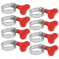 8pz Tubo Clip Fibbia Set Clamp Quick Action FARFALLA FASTNER 13-23mm 14-27mm