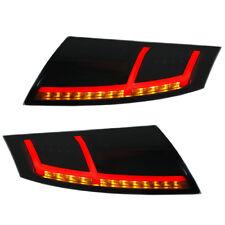 VOLL LED Rückleuchten Audi TT 8J Bj. 06-14 Schwarz/Smoke Dynamischer LED Blinker