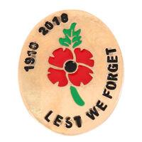 Émail revers Badges pavot Crystal Pin Badge broches soldat militaire armée
