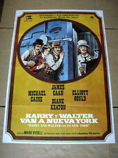 NEW YORK Film WESTERN Poster JAMES CAAN DIANE KEATON MICHAEL CAINE ELLIOTT GOULD