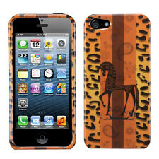 For Apple iPhone 5 5S SE HARD Protector Case Snap On Phone Cover Leopard Zebra