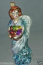 """Angel'S Bounty"" W/ Fruit Basket Christopher Radko Christmas Tree Ornament"