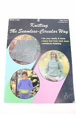 Vintage Bates & Sons Circlular Sweater Blanket Knitting Sewing Directions Book