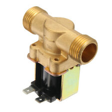 DC 12V Brass Electric Solenoid Valve  2-Way Normally Open For Air Water Valve