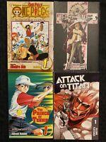 Attack On Titan 1, Prince Of Tennis 1, Deathnote 1, One Piece 1 Shonen Manga