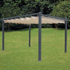 Pergola outdoor con struttura tutta in alluminio e top bianco