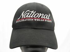 NATIONAL EXPLORATION WELLS PUMPS -  ADJUSTABLE STRAPBACK BALL CAP HAT!