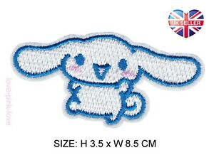 🌸 CINNAMOROLL SANRIO Full Embroidered Applique Iron Sew On Patch Badge UK 🌸