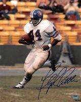 Floyd Little signed Denver Broncos TB 8x10 Photo (white jersey) Schwartz Holo