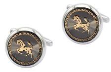 CUFFLINKS FERRARI SPORTS CAR HORSE RIDER EQUESTRIAN  CUFF LINKS GIFT BNIB NEWUK