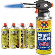 BLOW TORCH BUTANE FLAMETHROWER BURNER WELDING AUTO IGNITION WEED SOLDERING 4 GAS