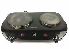 GE Electric Dual Range Table Counter Top 2 Burner Cast Iron Hot Plate Portable