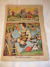 Rarität selten sehr alte Kinderzeitschrift Deutsche Kinderwelt Heft 9 Sept. 1943