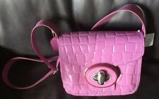 Coach Leather Patent Croc Drifter Puce/Pink 35768 New With Tags MSRP $595